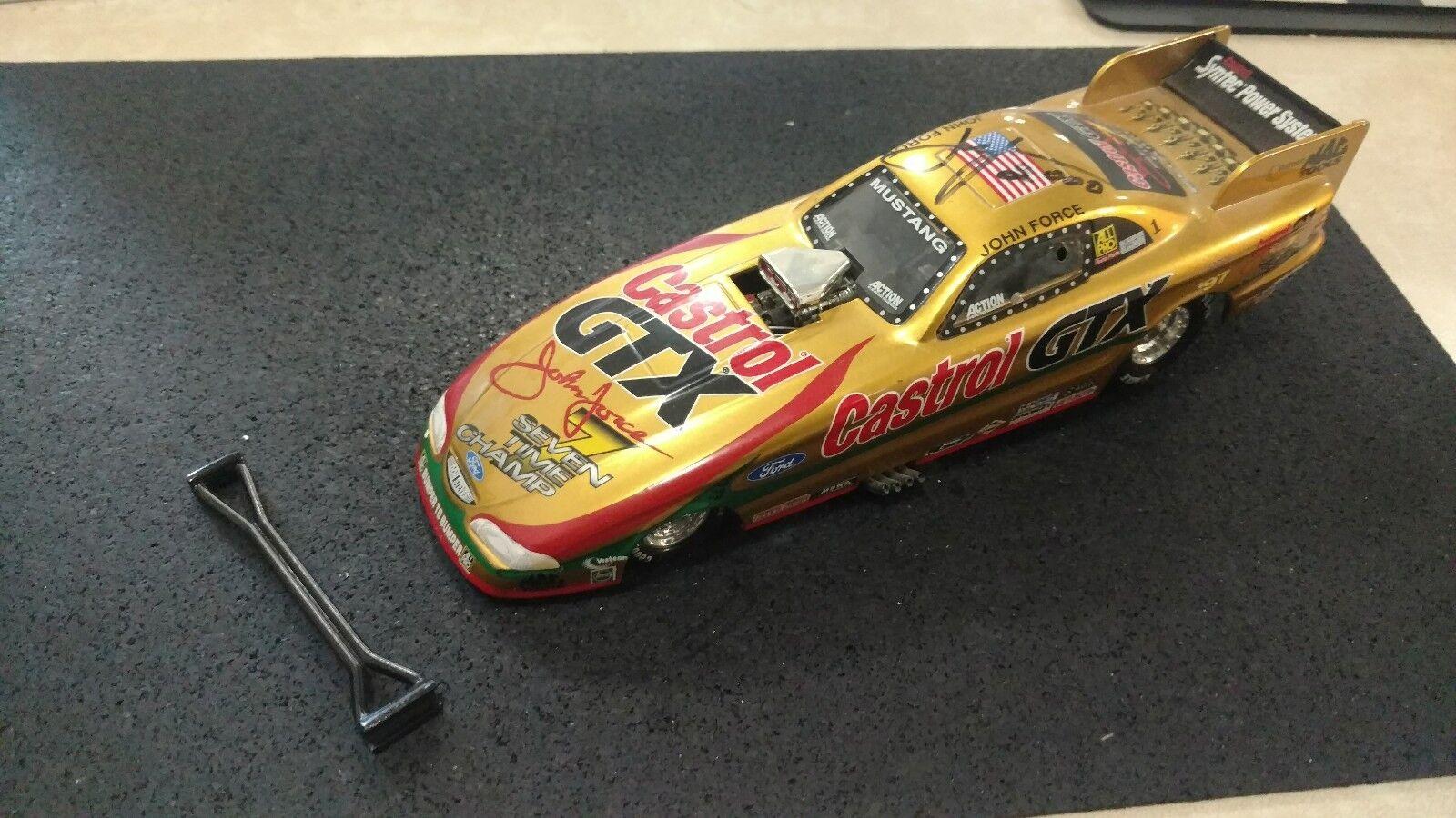 1998 John Force Castrol GTX 7 Time Champion Funny Car  diecast NHRA Signed