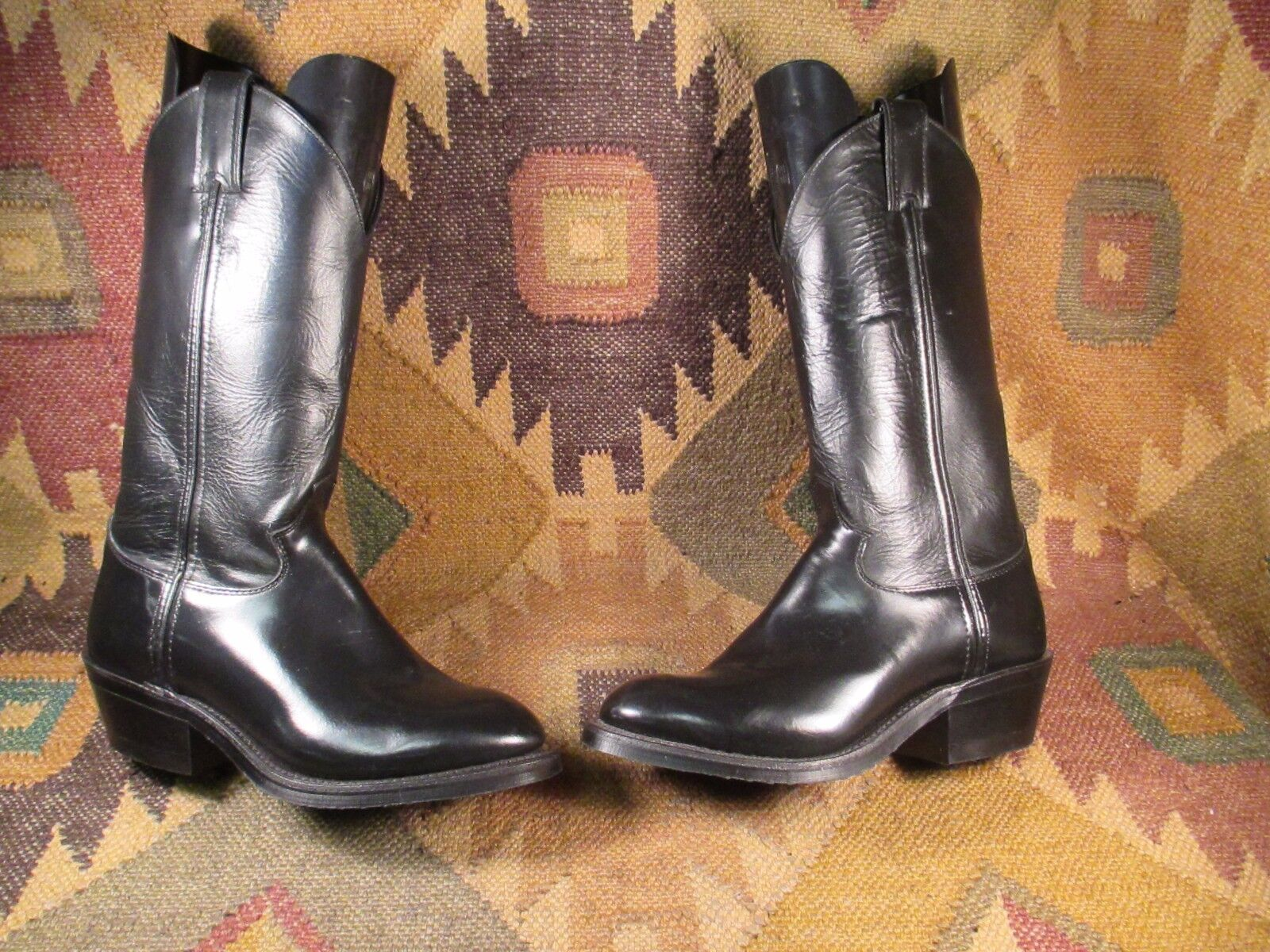 VTG NEW Justin Melo-Veal Western Boots Black style M6637 SIZE 6.5C USA made