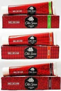 OLD-SPICE-Lather-Shaving-Cream-70gm-Each-ORIGINAL-MUSK-FRESH-LIME-For-Men-F-S