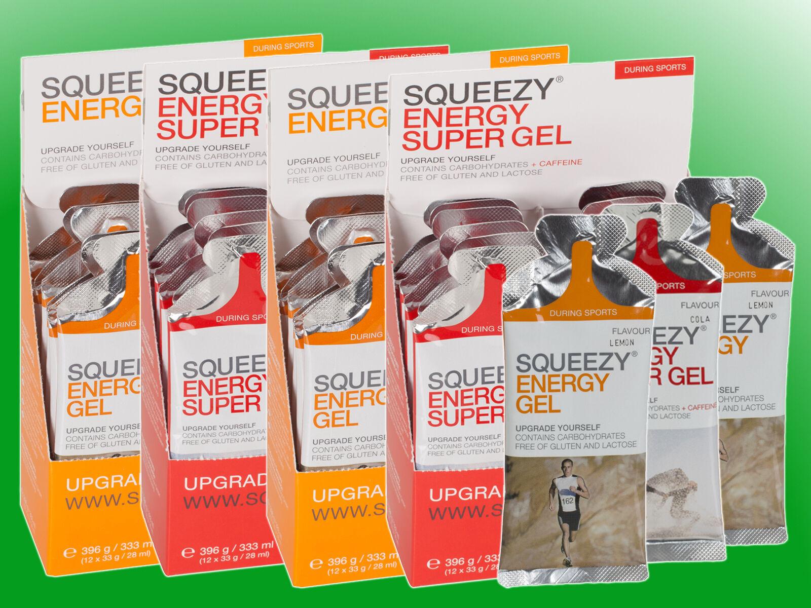 ( /kg)     4 x Squeezy Energy Gel Box - 48 Gels a 33g f4c52f