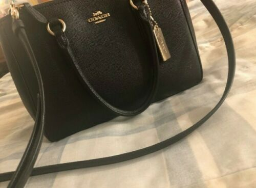 Authentic Coach Black Purse with Gold Accents