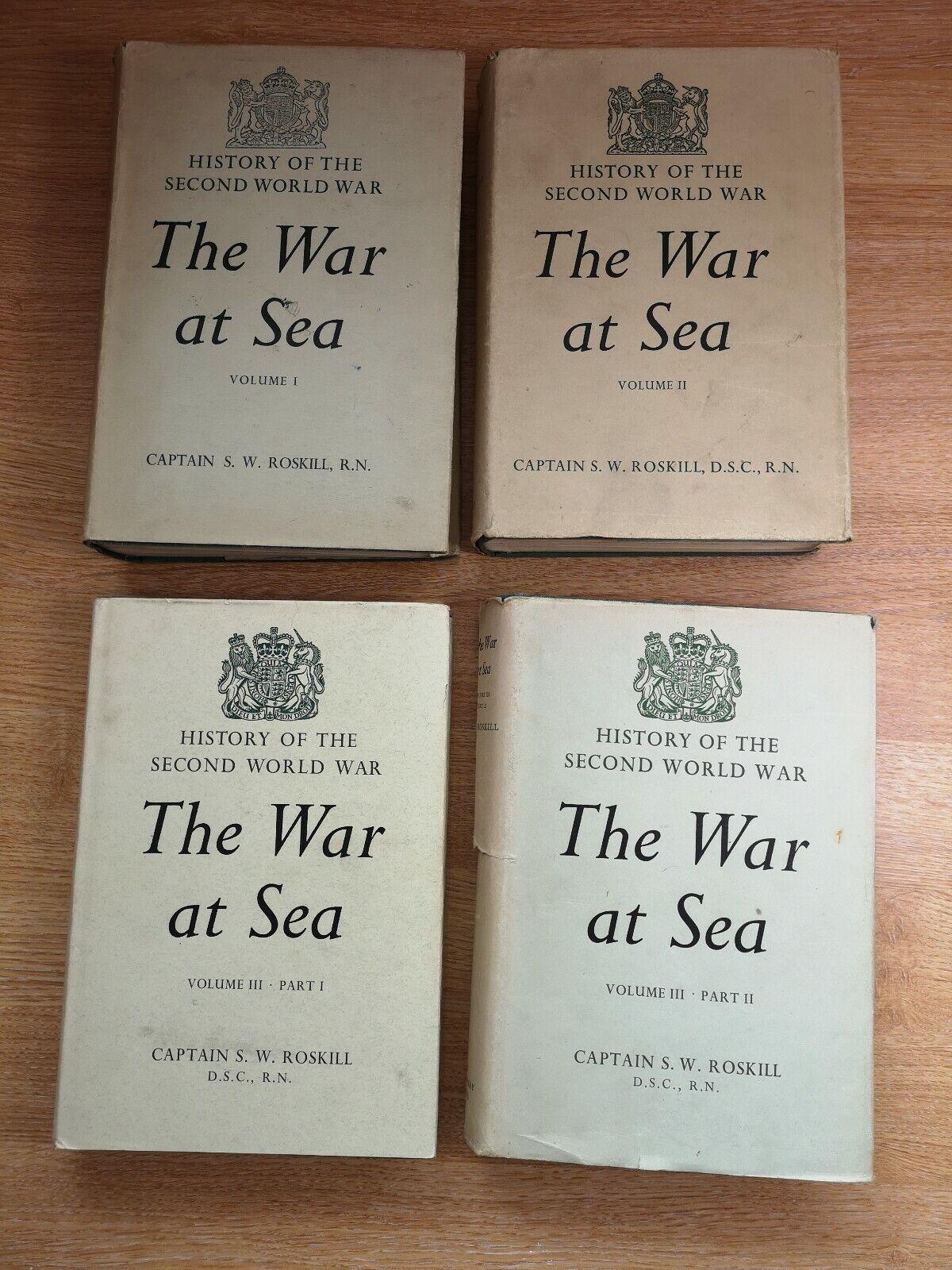 4 Vol. historia de la segunda guerra mundial la guerra en el mar capitán S W Roskill 1939-1945