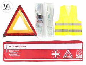 3in1-Set-Cartrend-Kombitasche-Erste-Hilfe-Verbandtasche-Warndreieck-Warnweste