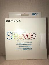 White, 100 Pack Memorex 01961 CD//DVD Paper Sleeves