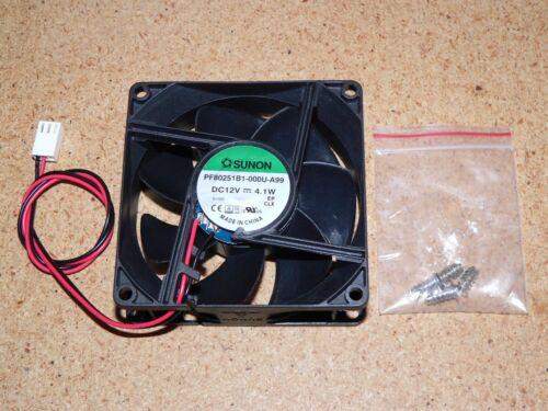 Sunon PF80251B1-000U-A99 12VDC 4.1W 80x25mm 2-Pin Connector Case Fan Screws