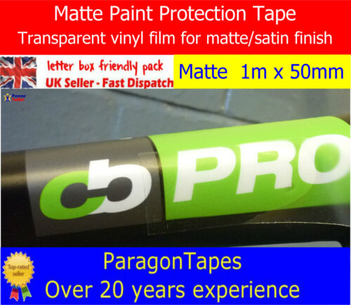 INVISIBLE MATTE SATIN Car Paint Protection Film Helicopter Tape Heli Clear Vinyl