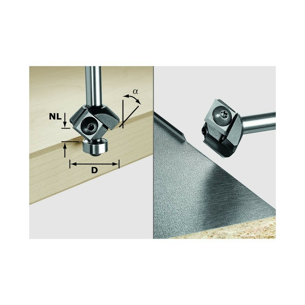 Festool Wepla-Fasefräser HM D27 12 12 45° Nr. 499807