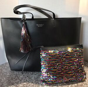 Victoria S Secret 2016 Black Friday Tote Mini Sequin Bag Ebay