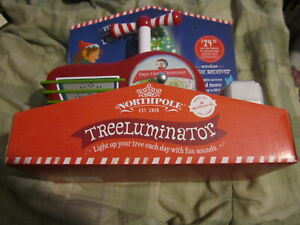 Hallmark-2014-Northpole-Treeluminator-Christmas-Tree-Light-w-Magic-Receiver-NIB