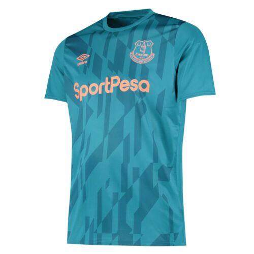 Everton FC Umbro Hommes 2019-20 réchauffer football shirt-bleu-Neuf