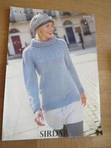 8959 Sweater Pattern No Sirdar Click DK