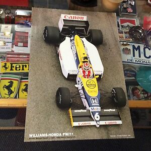 NELSON-PIQUET-WILLIAMS-HONDA-FW-11-POSTER-1986