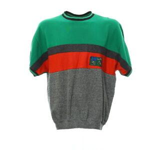 Vintage-Kurzarm-Sweatshirt-Gr-M-Sport-Pullover-Shirt-Logo-Retro-Rundhals