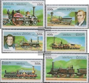 Laos-1554-1559-kompl-Ausg-postfrisch-1997-Dampflokomotiven
