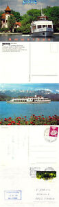 German River Cruiser Ms Utting Un Des Navires En Cache Cover & Couleurs 2 Cartes Postales