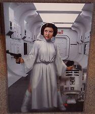Star Wars Rebel Princess Leia Gunship Pinup art print 17X11