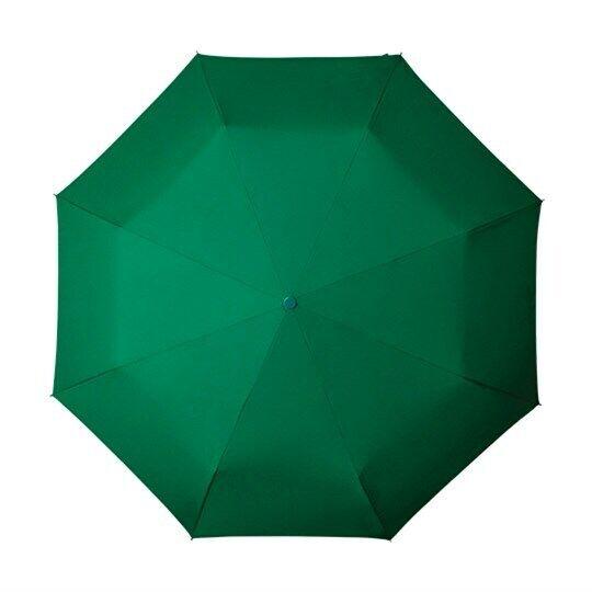 Green Compact Folding Umbrella Mens and Womens Waterproof Small Handbag Brolly