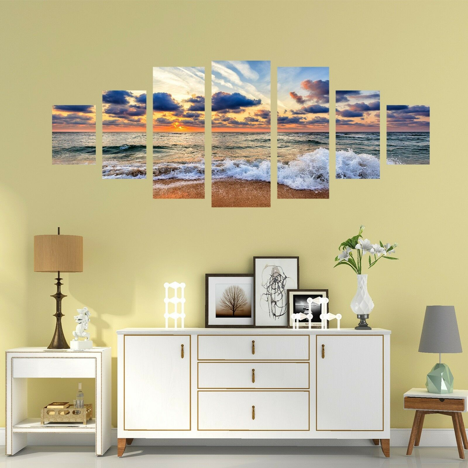 3D Dusk Sea 791 Unframed Print Wall Paper Decal Wall Deco Indoor AJ Wall Jenny