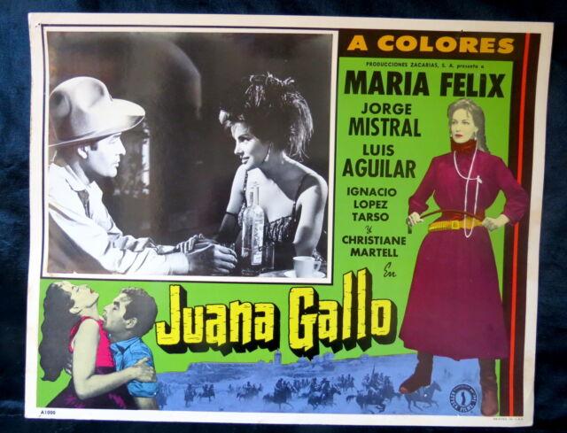 "MARIA FELIX ""JUANA GALLO"" CHRISTIANE MARTELL N MINT LOBBY CARD PHOTO 1960"
