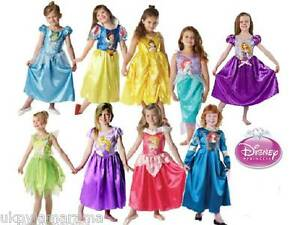 Girls-Classic-Deluxe-Royale-Disney-Princess-Fancy-Dress-Outfit-Costume-Licensed