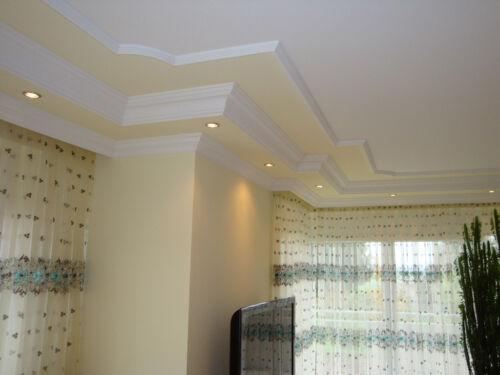 1m Zierprofile Styroporleisten Stuckleisten Dekorleiste Bordüre Wand Decke K 7