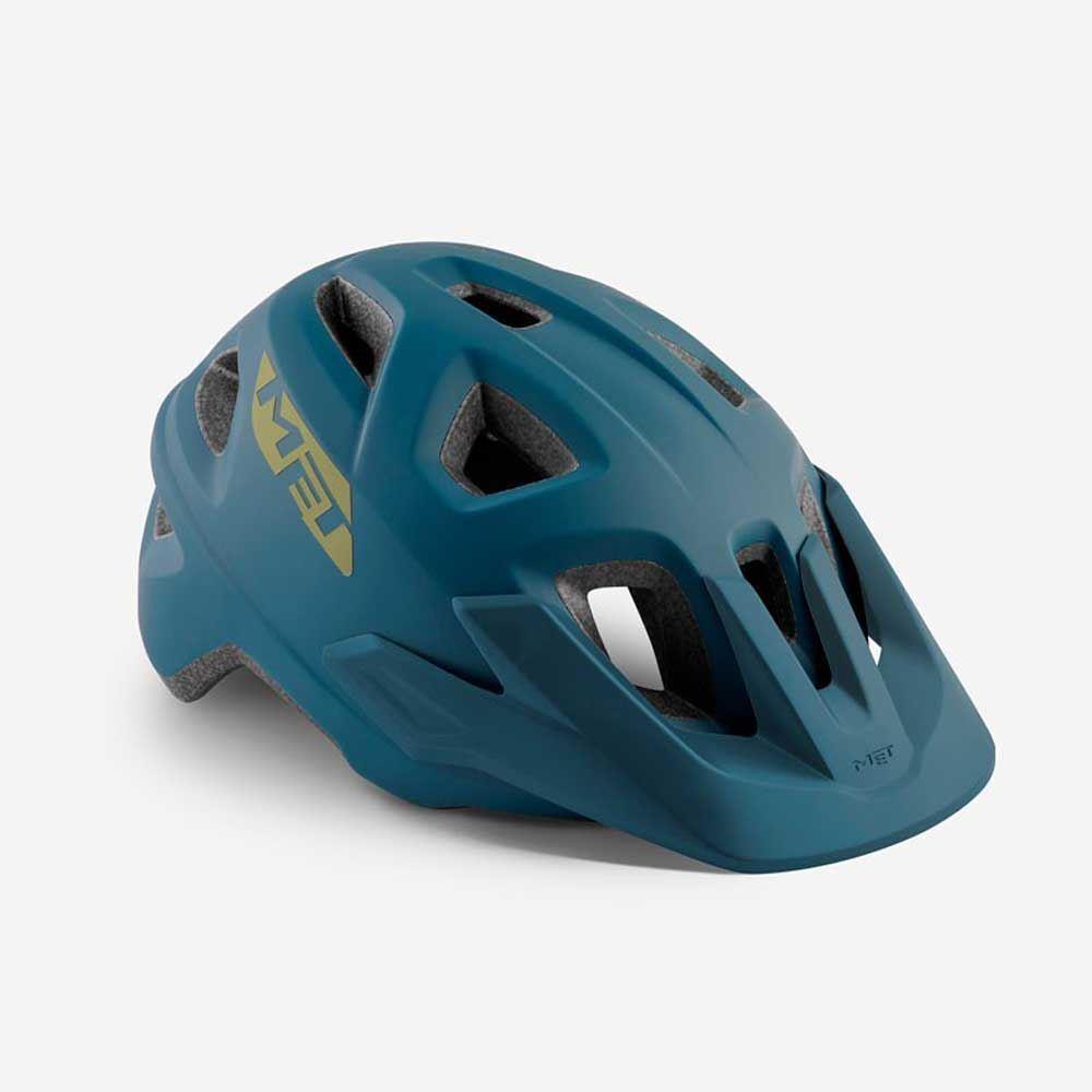 Mountain Bike Cycle Casco MET Echo Petrol MATT BLU 52 57