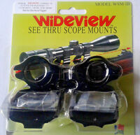 Wideview See-thru Scope Mount Savage Models Listed Pre 2003 One Flat & One Round