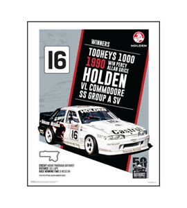 HOLDEN-COMMODORE-VL-POSTER-PERCY-GRICE-1990-BATHURST-50-x-40-cm-20-034-x-16-034