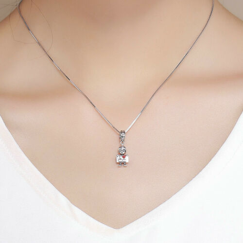 Baby Boy S925 Sterling Silver Charm Bead Pendant For Bracelet Necklace Jewelry