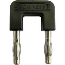 Kurzschlußstecker 4mm 19mm Abstand mit Zusatzkontakt schwarz
