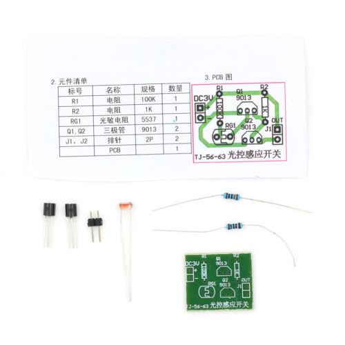 4Pcs Kit Light-Control Sensor Commutateur Suite électronique Trainning LC