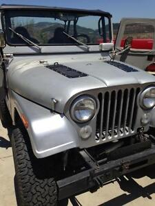 new willys cj5 pair of 5 louvered panels hood louvers bolt on