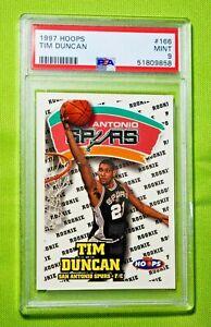 1997 Hoops #166 TIM DUNCAN Rookie PSA 9 Mint 🏦 HOF