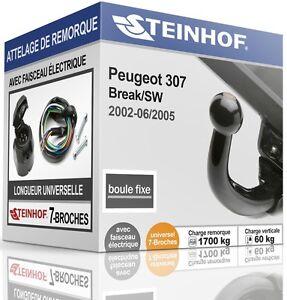 ATTELAGE-fixe-PEUGEOT-307-Break-SW-2002-2005-FAISC-UNIV-7-broches-COMPLET