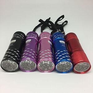 LED-Taschenlampe-Lampe-Mini-super-Helle-9-LED-Leuchte-Minilampe-NEU-OVP