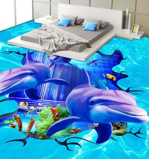 3D Ocean 17 Fond d'écran étage Peint en Autocollant Murale Plafond Chambre Art