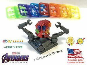 Avenger Gauntlet Chrome Infinity 36Pcs Stones Iron Man Custom Lego Minifigures