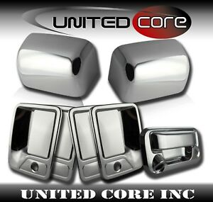 FOR 2008-2016 Ford F250 F350 SD Chrome Mirror Tailgate 4 Door Handle Cover w