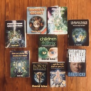 Lot-of-9-David-Icke-Esoteric-Occult-Alchemy-Metaphysical-Conspiracy-Globalist