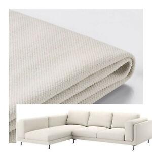 IKEA-Nockeby-Loveseat-Sofa-w-Left-Chaise-Slipcover-TALLMYRA-LIGHT-BEIGE-Cover