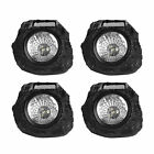 4pcs Solar Powered Rock Lights Outdoor Path Garden Walkway Landscape Lighting