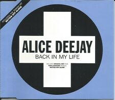 ALICE DEEJAY Back in my life MIXES Better off SHORT CD Single SEALED USA seller