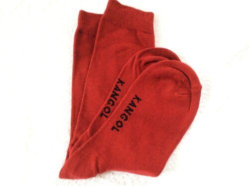 Da Uomo Alta Qualità Cotone Kangol Fresh Crew Socks Borgogna Bordeaux o Blu Brillante