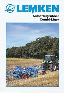 UnabhäNgig Lemken Aufsattelgrubber Combi-liner Prospekt 10/03 Gute Begleiter FüR Kinder Sowie Erwachsene Automobilia