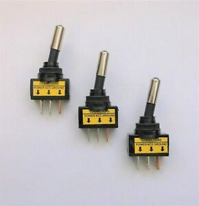 3 Bbt Red Lighted Led 12 Volt 20 Amp Rv Toggle Switches Ebay