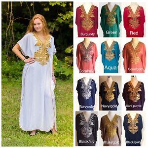 d8df6700324 Image is loading SALE-Moroccan-kaftan-Embroidery-Batwing-Maxi-Dress-Dubai-