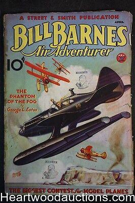 Bill Barnes Air Adventurer Apr 1934 Frank Tinsley Cvr, Malcolm Wheeler-Nicholson