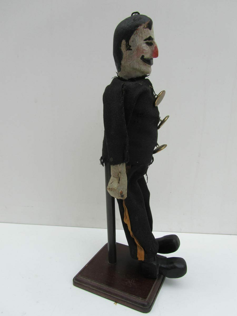 Antique European Folk Art wooden PUPPET Figure GENDARME POLICEMAN