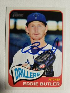 2014 Topps Heritage Eddie Butler Autograph Rockies Rangers Cubs  Card Auto