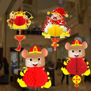 2020 New Year Red Paper Fortune Hanging Chinese Spring ...